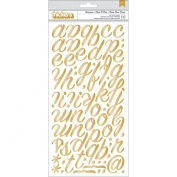 American Crafts On Trend Chipboard Thickers Alphabet Stickers, 13cm - 1.3cm x 28cm