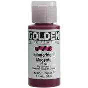 Golden Fluid Acrylics - Quinacridone Magenta - 1 oz Bottle