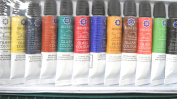 GLASS PAINTS 12 TUBES