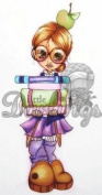 Little Darlings Saturated Canary Unmounted Rubber Stamp - Geekin It