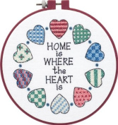 Learn-A-Craft Home And Heart Stamped Cross Stitch Kit-15cm Round