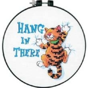 Learn-A-Craft Hang In There Stamped Cross Stitch Kit-15cm Round