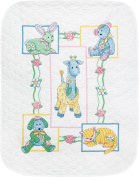 Dimensions Crafts Baby Hugs Baby's Friends Quilt Stamped Cross Stitch Kit 90cm x 110cm 73067