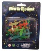 Silicone rubber lizards glow in the dark design - 23cm a pack