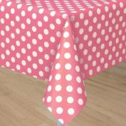 Unique 1.3 x 2.7m Polka Dot Plastic Table Cover
