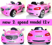 Two speed 12v Battery Powered Electric Ride on Car - Pink