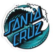 Santa Cruz Skateboard / Surf Sticker - waves surfing skating skate board water small