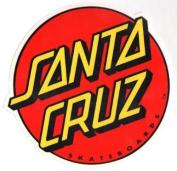 Santa Cruz Classic Logo Skateboard Sticker - large skate board skating skateboarding