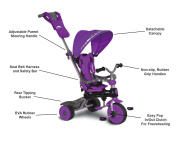 CHILDRENS TRIKE WITH HOODED CANOPY - PURPLE