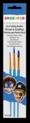 Snazaroo Face Painting Brushes, Set of 3, Blue - Boys