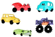 Funky Cars What's Under The Hood Craft Buttons & Embellishments by Dress It Up