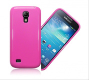 for Samsung Galaxy S4 Mini i9190 Hot Pink Tpu Rubber Gel Skin Case Cover & Screen Protector & Cleaning Cloth