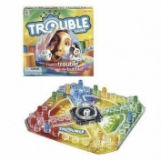 Magnificent Trouble Board Game With The Popomatic Die-Rolling Bubble - Classic Race-And-Chase Game! Toy / Game / Play / Child / Kid