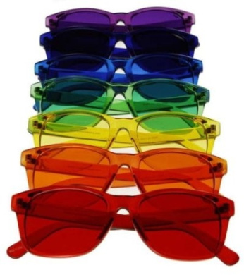 Classic Style Colour Therapy Glasses - Set of 7