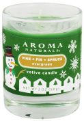 Aroma Naturals - Evergreen Holiday Soy VegePure Votive Glass Eco