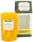 Aroma Naturals Essential Oil Orange Scented Pillar Candle, Lavender and Tangerine