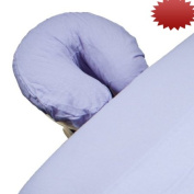 Body Linen Comfort Flannel Face Rest Covers for Massage Tables (Lilac, 10 Pack) - Soft, Durable and Light 100% Cotton Flannel Face Cradle Covers