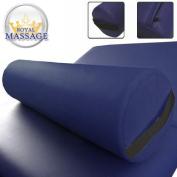 15cm Diameter Deluxe Oversized Massage Table 60cm Full Bolster - Navy Blue