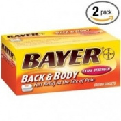 Bayer Pain Reliever/Adjuvant, Back & Body, Extra Strength, Coated Caplets 100 caplets