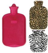 Classic Cross-Hatched Hot Water Bottle with Cover, Colour may vary