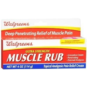 Walgreens Ultra Strength Muscle Rub, 120ml