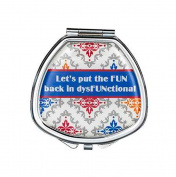Ganz It's a Girl Thing Compact Pill Box - Fun In Dysfunctional Fashion Pill Box With Mirror