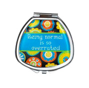 Ganz It's a Girl Thing Compact Pill Box - Normal Is Overrated Fashion Pill Box With Mirror
