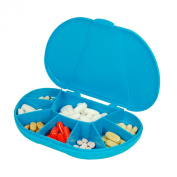 Travel Size 8 Compartment Pill Box Holds up to 150 Pills (Actual Size