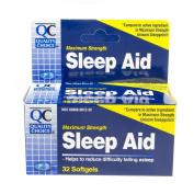 Quality Choice Maximum Strength Sleep Aid Softgels 32 Count, Boxes