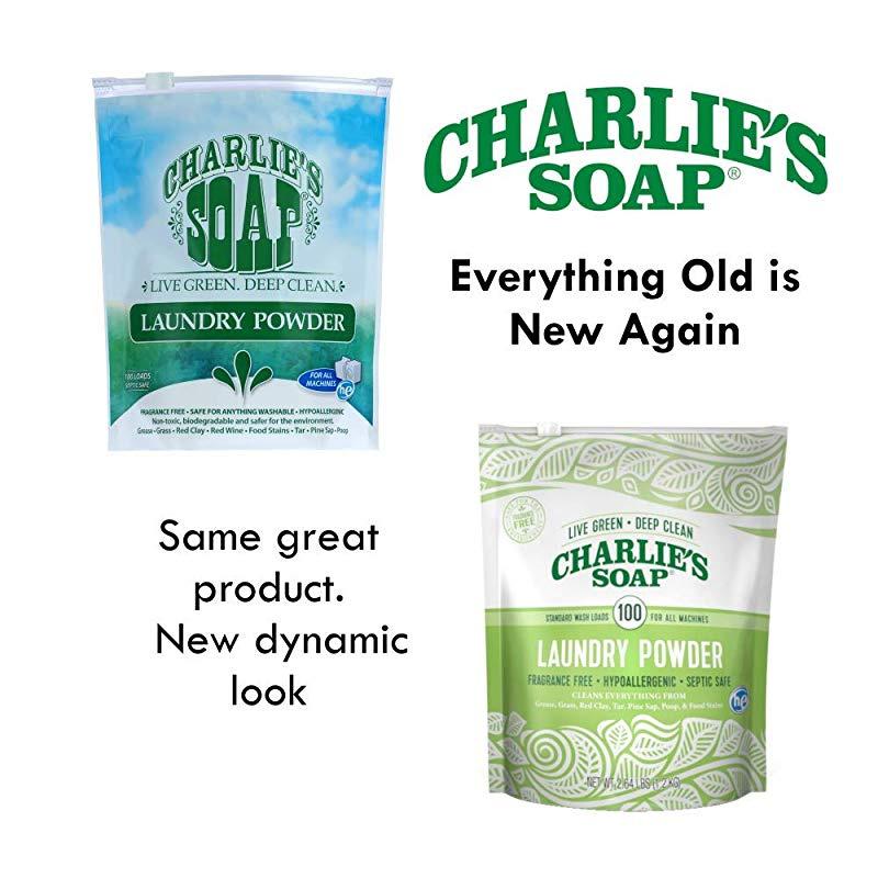 4bbfe433e4bc Charlie's Soap – Fragrance Free Powdered Laundry Detergent – 100 Loads  (1.2kg, 1 Pack)