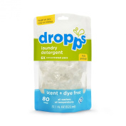 Dropps Scent + Dye Free High Efficiency Laundry Detergent Pacs 80 ct