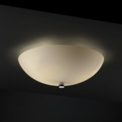 Justice Design Group Lighting FSN-9671-35-OPAL-CROM 46cm Semi-Flush Bowl with Fluorescent Lamping