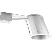 Progress Lighting P745-IC 15cm Slope Remodel Housing For Incandescent That Adjusts Lamp From 9 To 45 Degrees 1 Trim Style For All Ceiling Angles and Integral Cast Trim Flange Ring