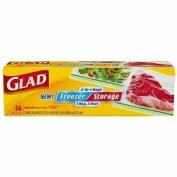 Glad 2-In-1 Zipper Clear Bags, Gallon, 36 ea