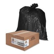 Genuine Joe Heavy Duty Trash Bag - Trash Bag - 227.1l00cm x 140cm - 1.5mil Thickness - 50 / Box - Black