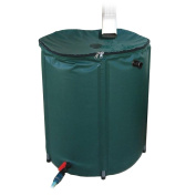 Rain Barrel - 189.3l Collapsible Rain Barrel with Zippered Top and Built-In Hose Tap