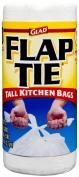Glad Tall Kitchen Flap-Tie Trash Bags, 49.2l, 40 Count