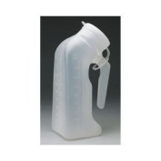 Male Urinal w/Cover Disposable Translucent
