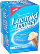 Lactaid Fast Act - Helps Prevent Gas, Bloating, Diarrhoea - 90 caps