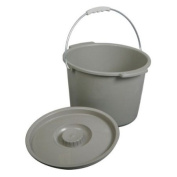 Replacement Commode bucket with Lid, 11.4l. / 7.6l