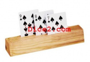 3-Slot Wooden Card Holders- Set Of 2