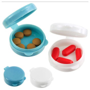 Pocket Pill Caddy Travel Plastic Container Medicine Tablet Case Holder 2 Pc New