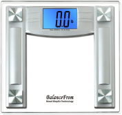 """BalanceFrom High Accuracy Digital Bathroom Scale with 11cm Extra Large Cool Blue Backlight Display and """"Smart Step-On"""" Technology [NEWEST VERSION]"""