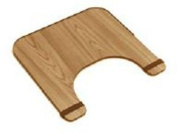 wheelchair tray with rim and straps, 60cm x 50cm , wood finish
