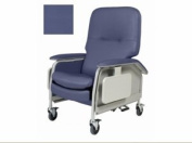 Deluxe Clinical Care Recliner, 1 EA, Royal Blue