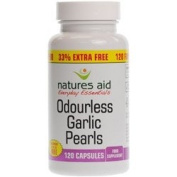 Natures Aid Promotional Packs Garlic Pearls 120 Capsules 33% extra fill