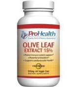 Pro Health, Olive Leaf Extract (15% Oleuropein) 500 mg, 60 veggie capsules