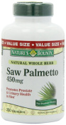 Nature's Bounty Natural Saw Palmetto 450mg, 250 Capsules