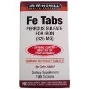 FERROUS SULF TB 325MG WMILL Size