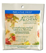 Nature's Alchemy Aromatherapy Herbal Mineral Baths, Breathe Deep, 90ml